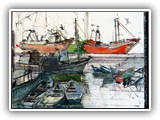 Fishing Boats at Mevagasy in Cornwall