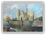 Notre Dame in the Evening